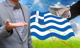 Creditors offer more loan, Greece's Debt Crisis. Concept Royalty Free Stock Photography