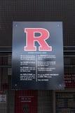 Credo atlético de Rutgers foto de stock
