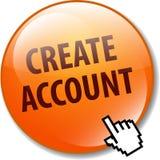 cree el botón de la cuenta stock de ilustración