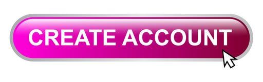 cree el botón de la cuenta libre illustration