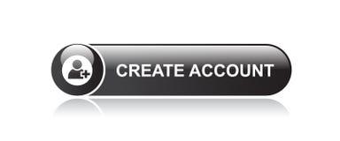cree el botón de la cuenta ilustración del vector