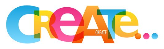 CREE el cartel de la tipografía ilustración del vector