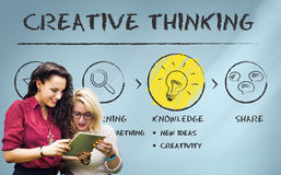 Cree el concepto de las ideas de la inspiración de la innovación de la imaginación imagen de archivo libre de regalías