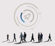 Cree el negocio Rocket Ship Graphic Concept Fotografía de archivo libre de regalías