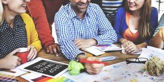 Cree el negocio Team Meeting Ideas Concept foto de archivo libre de regalías