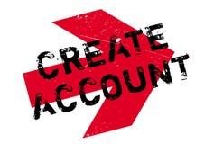 Cree el sello de la cuenta ilustración del vector