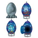 Cree la casa de hadas del huevo de piedra, de cuatro pisos stock de ilustración