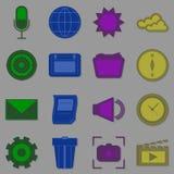 Cree los iconos de la función para Internet ilustración del vector