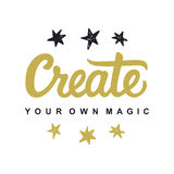 Cree su propia magia stock de ilustración