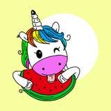 Cree su propio unicornio - colecci?n grande del vector Constructor del unicornio Cara linda del unicornio stock de ilustración