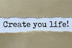 Cree su título de la vida foto de archivo libre de regalías