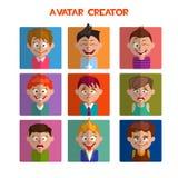 Cree un avatar lindo, las emociones y los peinados ilustración del vector