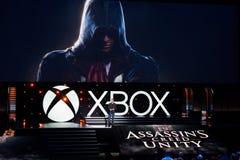 Creed Unity van de moordenaar stock afbeeldingen