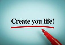 Creeer uw leven royalty-vrije stock foto's