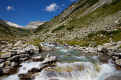 Creek in the alps Royalty Free Stock Photos