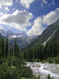 Creek in the alps Stock Photo
