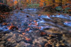 Creek In Autumn Season. Indian Run Creek, Pennsylvania in Autumn royalty free stock photo