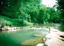 Creek. Beautiful, clean, flowing water down the river Royalty Free Stock Image