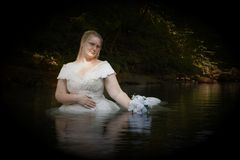 Creek Bride Royalty Free Stock Image