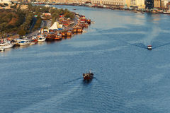 The Creek with Bur Dubai area of Dubai, UAE Royalty Free Stock Photo