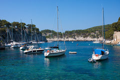 Creek of Cassis. Boats in a creek of Cassis in France Royalty Free Stock Photo