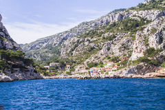 A creek of Cassis. One of the creeks of Cassis in Provence Royalty Free Stock Images