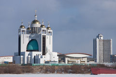 Creek-catholic cathedral in Kyiv Stock Image