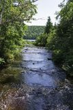 Creek to Fanny Hooe. The creek connection Lake Fanny Hooe to Lake Superior Royalty Free Stock Photo