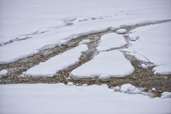 Creek covered by snow Stock Images