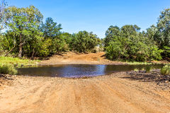 Creek Crossing Royalty Free Stock Photography