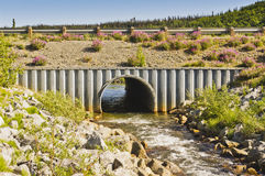 Creek and culvert Royalty Free Stock Image