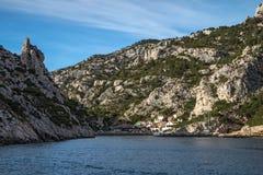 The Creek di Marsiglia, calanque del morgiou, francese immagine stock