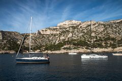 The Creek di Marsiglia, calanque del sormiou, francese fotografia stock libera da diritti