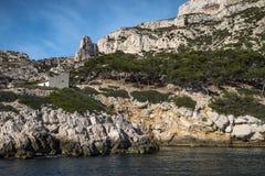 The Creek di Marsiglia, calanque del sormiou, francese fotografie stock libere da diritti
