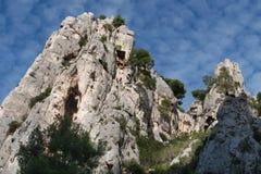 The Creek en-Vau около Cassis - Bouches-du-Роны Франции стоковая фотография