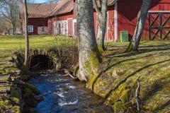 Creek in  a farm Stock Photos