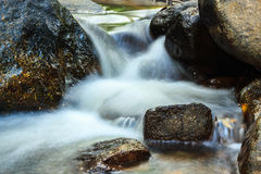 Creek flowing over the rocks Royalty Free Stock Photography