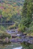 A creek flows into Lake Bouchard Stock Photography