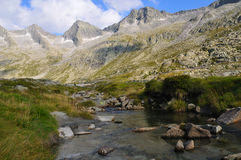 Creek in glacial valley Royalty Free Stock Image