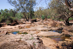 A creek in Gondabooka National Park Royalty Free Stock Image