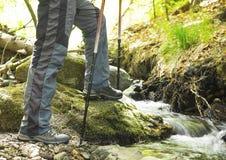 Creek Hiking Royalty Free Stock Images