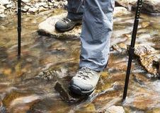 Creek Hiking Stock Image