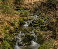 Creek Kamenice in Jizerske hory mountains Royalty Free Stock Photo