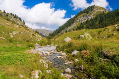 Creek in the Ligurian Alps Royalty Free Stock Photo