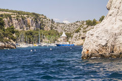 Creek Marseille. One of the creek of Marseille between Marseille and Cassis Stock Photo