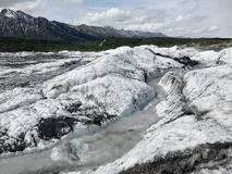 Creek at Matanuska Glacier, Alaska (USA) Royalty Free Stock Photography