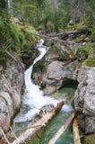 Creekmeandering between large rocks Stock Images