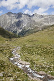 Creek in mountain valley, Austrian/Italian Alps. Stock Images