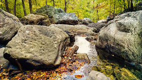 Tennessee Creek. A creek near Signal Mountain. Chattanooga, Tennessee is located in the eastern part of the state on the Cumberland Plateau Royalty Free Stock Photo