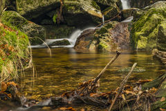Creek near Velky Stolpich waterfall Royalty Free Stock Photo